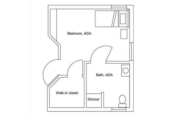room plan east view ada